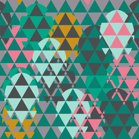 Modern Easter eggs triangles fabric by katarina on Spoonflower - custom fabric