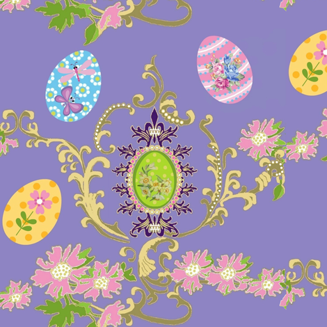 Abby's easter egg flora fabric by paragonstudios on Spoonflower - custom fabric