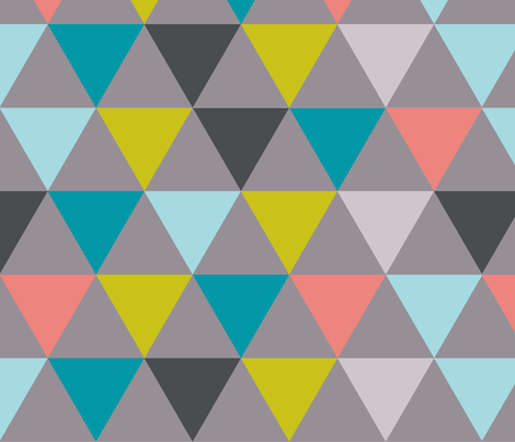 triangles - diamonds fabric by katarina on Spoonflower - custom fabric