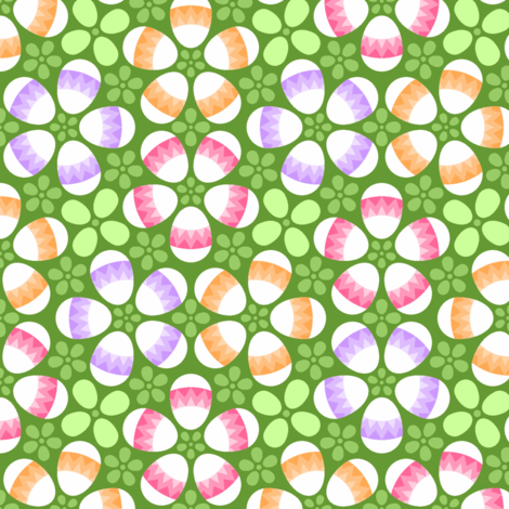 S43X eggs zigzag 3 fabric by sef on Spoonflower - custom fabric