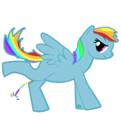 Rainbow Pony Peeing