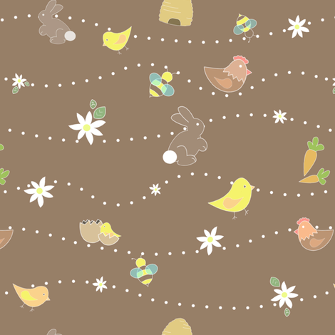 Easter eggs are sweet fabric by ellila on Spoonflower - custom fabric