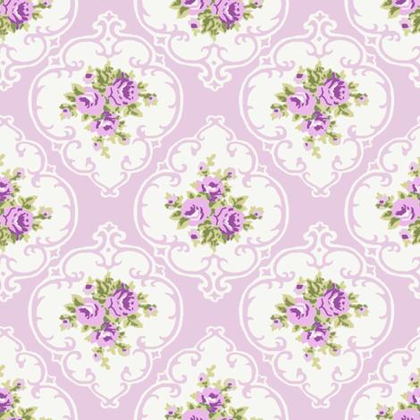 Purple Cameo Roses by Paris Bebe fabric by parisbebe on Spoonflower - custom fabric
