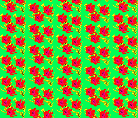 FlowersYYred fabric by retroretro on Spoonflower - custom fabric