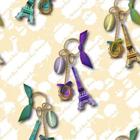 Souvenirs de Paris (Buttercup) fabric by vannina on Spoonflower - custom fabric