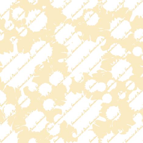Coordinate Souvenirs de Paris (Buttercup) fabric by vannina on Spoonflower - custom fabric