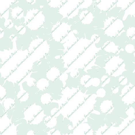 Coordinate Souvenirs de Paris (Almond) fabric by vannina on Spoonflower - custom fabric