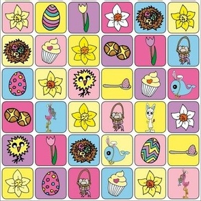 Easter Colourful Grid Mix