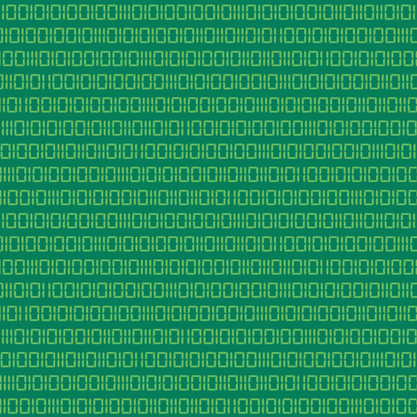 Robot Binary (Green) fabric by robyriker on Spoonflower - custom fabric