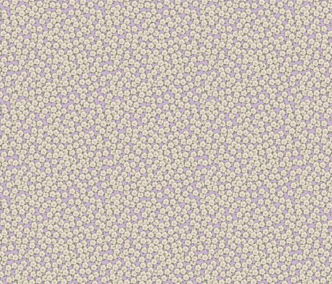 Ditsy Lavender for Art Nouveau Eggs fabric by miart on Spoonflower - custom fabric