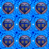 Police Box Heart and Stars