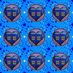 Police Box Heart and Stars