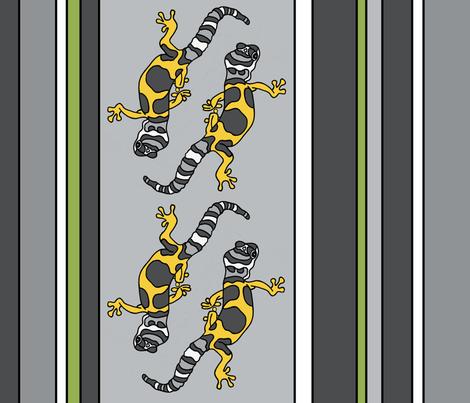 Leopard Gecko fabric by thebumbleshackstudio on Spoonflower - custom fabric