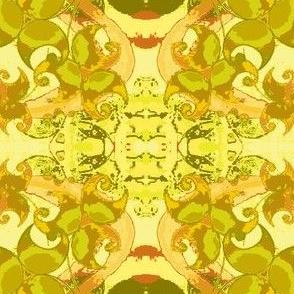 Dancing Leaves-yellow/pear green