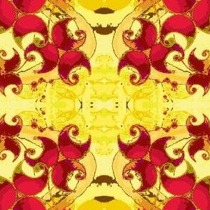 Dancing Leaves-red/yellow