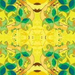 Dancing Leaves-yellow/green