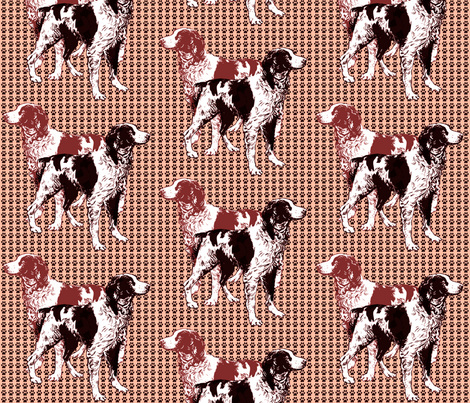 brittany_spaniels_on_pawprints fabric by dogdaze_ on Spoonflower - custom fabric