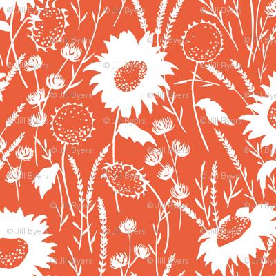 wildflowers - tangerine