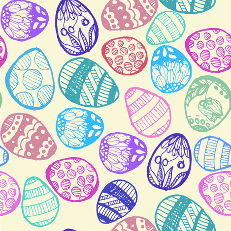 easter_eggs2 fabric by elich on Spoonflower - custom fabric