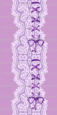 lace  and ribbons - lavender