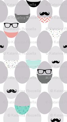 mustache geek eggs