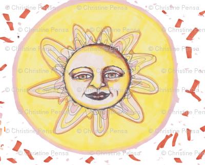Sunburst Handdrawn Pattern