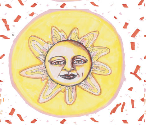 Sunburst Handdrawn Pattern fabric by artthatmoves on Spoonflower - custom fabric