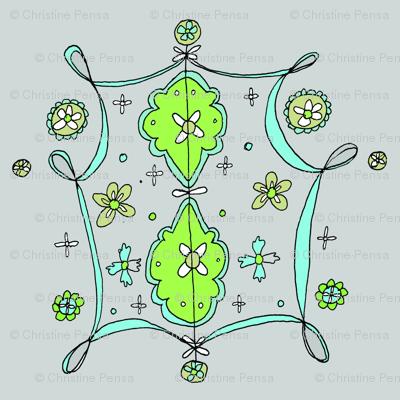 Whimsical Floral Lantern Pattern