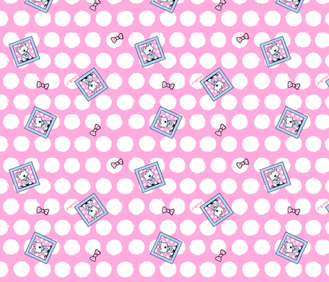 Westie Dot And Bows fabric by kiniart on Spoonflower - custom fabric