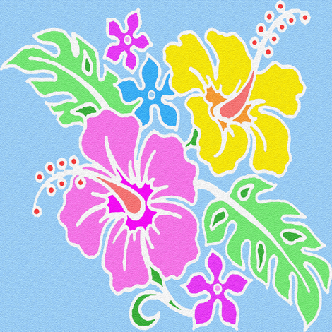 big tropical flowers fabric by krs_expressions on Spoonflower - custom fabric