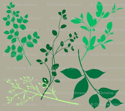 leaves taupe