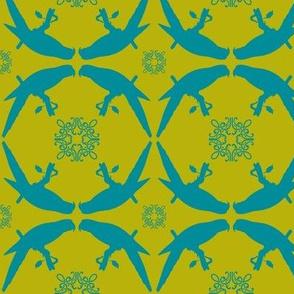 Parrot1-green/blue