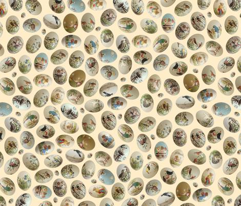 painted eggs fabric by karinka on Spoonflower - custom fabric
