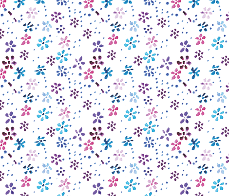 Watercolor flowers fabric by anastasiia-ku on Spoonflower - custom fabric