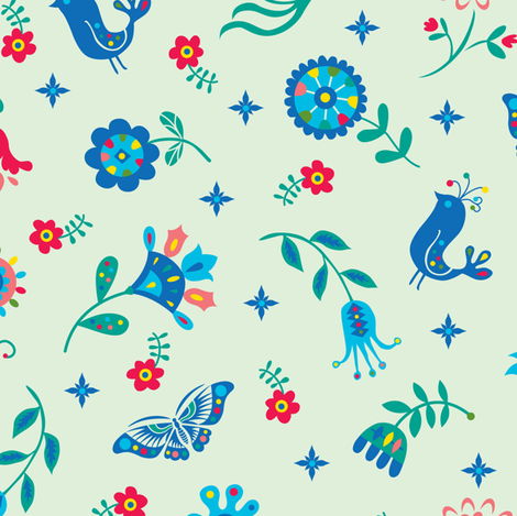 flowers of hope fabric by andibird on Spoonflower - custom fabric