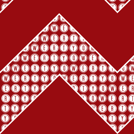 QWERTY Chevron red fabric by paragonstudios on Spoonflower - custom fabric