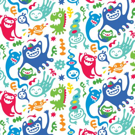 monster club fabric by andibird on Spoonflower - custom fabric
