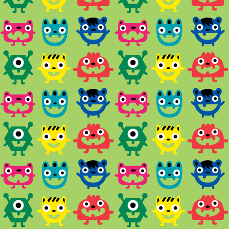 wee monsters fabric by andibird on Spoonflower - custom fabric