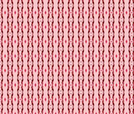Betty Davis Eyes with Guitar Tweed in Red fabric by walkwithmagistudio on Spoonflower - custom fabric