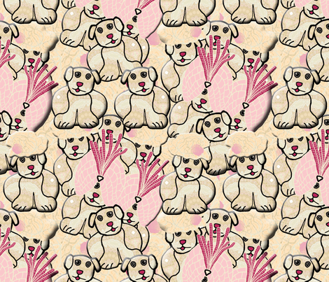 Another View of the  Puppies of Lady Bertram's Pug fabric by anniedeb on Spoonflower - custom fabric