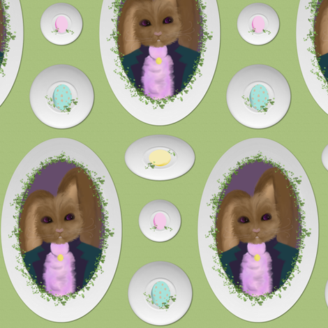 Peter Cottontail's Egg Plates fabric by peacoquettedesigns on Spoonflower - custom fabric