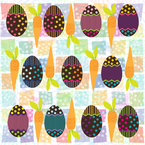 HoneyBunnysEgg_CarrotPatch fabric by strauberry on Spoonflower - custom fabric