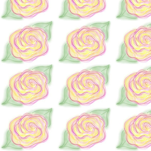 Pink-yellow_rose-edges_softened
