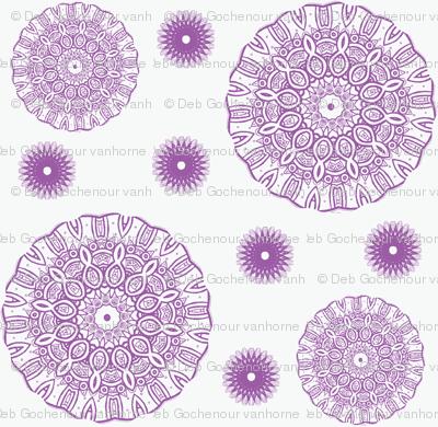 ruffled spirals in lavender