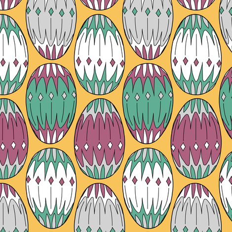 Colored Eggs fabric by pond_ripple on Spoonflower - custom fabric