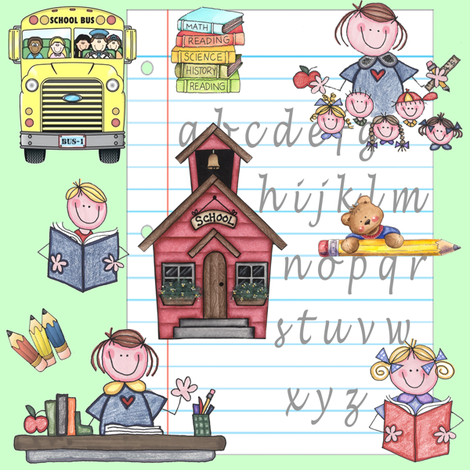 school days fabric by krs_expressions on Spoonflower - custom fabric