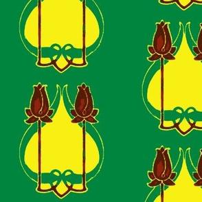 Art Nouveau38-green/yellow