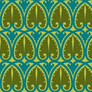 Art Nouveau21-blue/green