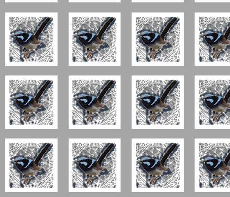 blue_wren_panel fabric by butterflyme on Spoonflower - custom fabric