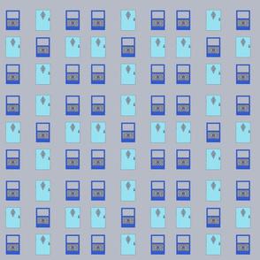 Blue Turquoise Doors